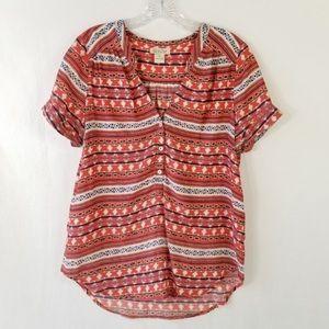 Lucky Brand popover blouse